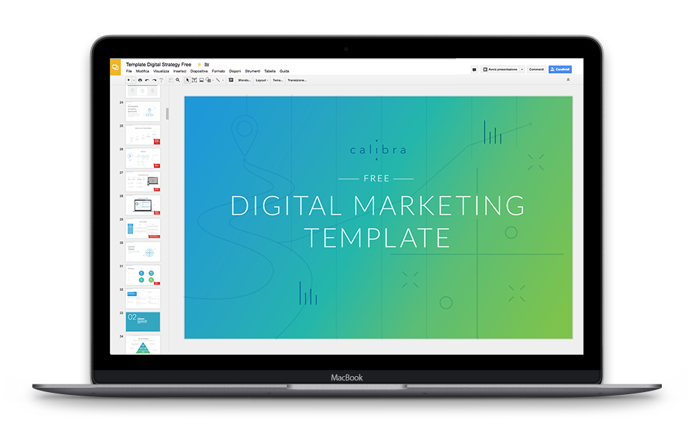digital marketing template mockup